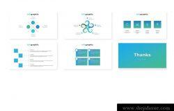 带有SWOT分析的高品质的时尚powerpoint幻灯片演示模板(pptx)