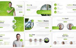 绿植田园食品卫生绿色能量系PPT模板设计