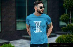 高档男士圆领T恤印花设计模特上身效果图样机 T-Shirt Mockup Collection