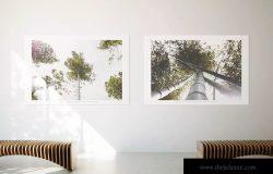 居家大厅大幅画框相框样机模板 Poster Mockup