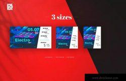 音乐活动社交宣传广告设计模板素材 Music Event Social Media Pack