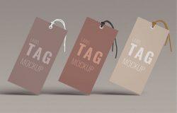 10款极简服饰品牌设计衣服标签PSD模板