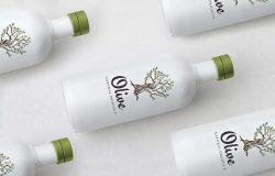 高端橄榄油瓶身外观设计样机模板 Olive Oil Bottle Mock Up