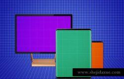 跨平台设计项目展示样机合集 Responsive Screens Mockup