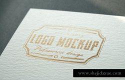 烫印烫金Logo样机模板 Logo Mock-Up
