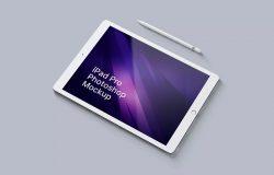 iPad Pro 绘画作品展示PSD样机