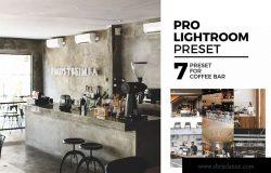 咖啡店摄影调色滤镜LR预设下载 7 Lightroom Preset for Coffee Bar