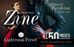 时尚杂志人物滤镜人像预设Zine 50 Fashion