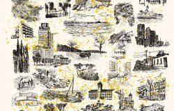 50种素描城市山水森林素材合集