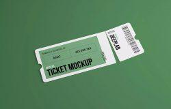 活动门票/入场券设计样机模板