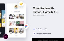 自由设计师工作室创意作品集个人网站设计模板