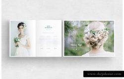 婚礼摄影杂志画册设计模板
