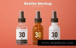 化妆品喷雾瓶外观设计样机模板Spray Bottles