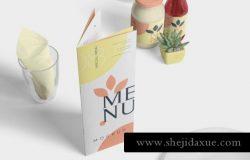 食物菜单宣传册设计样机Food Menu Book