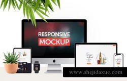 响应式网页设计展示responsive device mockup