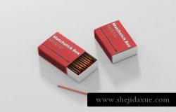火柴盒包装设计样机match-box mock-up
