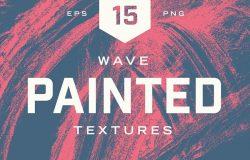 抽象油漆纹理设计素材Painted Wave Textures #927996