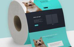 卫生纸创意贴图 Toilet Paper Mockup