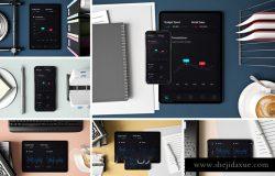 高端商务苹果设备应用程序APP/UI样机展示模型