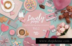 情人节女人节女性购物狂欢节粉色主题元素
