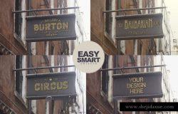 时尚欧式复古风格的logo标志店铺样机展示模型