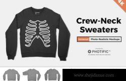 毛衣卫衣图案设计样机 Crew Neck Sweater