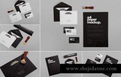高品质的时尚多用途的房地产stationery-design-mockups