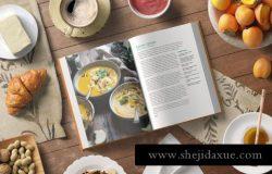 逼真高分辨率8层PSD文件厨房厨师菜谱