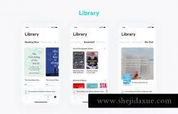 书籍阅读移动APP应用程序界面设计 BookStore Application UI Kit – Adobe XD