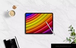 黑色外观平板电脑屏幕演示样机模板 Tablet Mockups