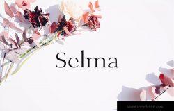 现代优雅英文衬线字体下载 Selma – A Classy Serif Typeface