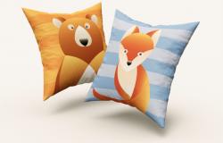 逼真质感的高品质方形枕头抱枕设计square-pillow-mockup