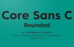 适用于杂志,网页,屏幕,显示器的字体家族 Core Sans CR Font Family