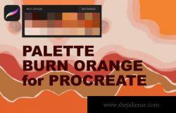 热烈的橙色高级Procreate调色板