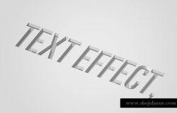 凹陷立体字体特效psd模版 Debossed Text Effect