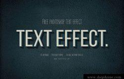 复古立体文字效果Free Vintage Retro Text Effect
