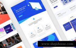 3个不同的创意机构Web网页设计模板素材 Creative Agency Web Template Design