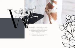 时尚优雅的花卉素材 Floral Alphabet amp;amp Illustrations
