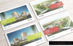 A4规格企宣画册样机模板 A4 Landscape Catalog Mockups