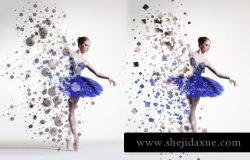 人像散景雾化特效照片处理 Dispersion Actions for Photoshop