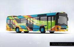 高品质高端城市公交车广告PSD模板