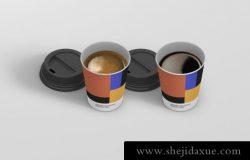 时尚高端逼真质感房地产纸杯水杯咖啡espresso-coffee-cup