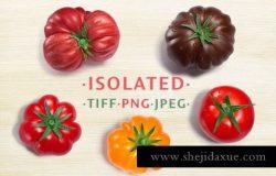 高品质的蔬菜水果西红柿抠图heirloom-tomatoes