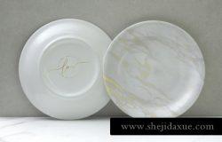 少见稀有的中国风陶瓷盘子餐盘设计VI样机展示模型porcelain-plate