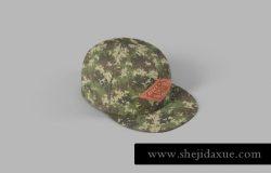 时尚高端帽子设计VI样机展示模型snapback-full