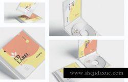 高品质的时尚高端逼真质感房地产CD光盘cd-label-case