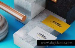 时尚高端逼真质感的轻奢房地产大理石名片business-card
