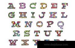 趣味字母素材 Alphabets and Numbers Vectors