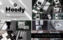 精心设计的35个预制场景文具样机SHADOW BUNDLE