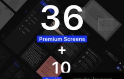 高质量笔记记录Web UI界面设计素材